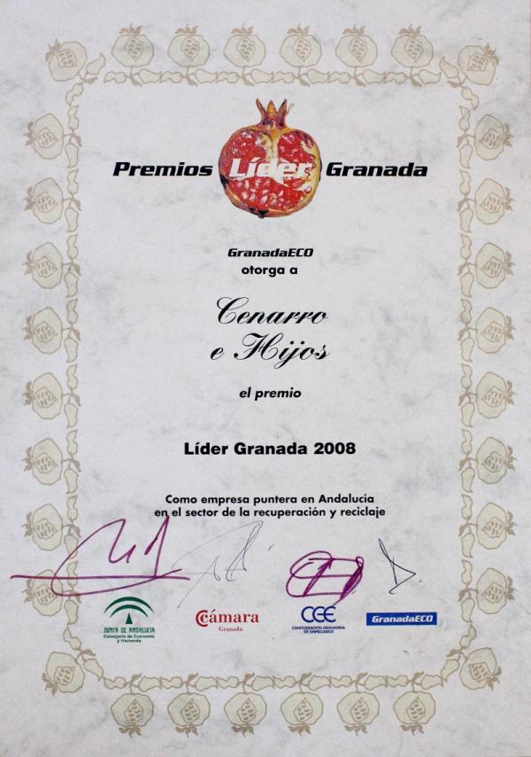 Premios líder Granada