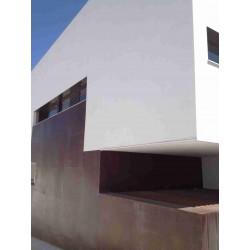 Decoración de fachada con chapa de 2mm