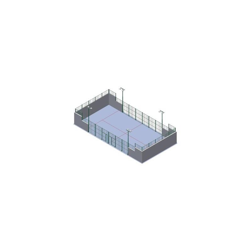 Paks pistas de padel para muro de obra
